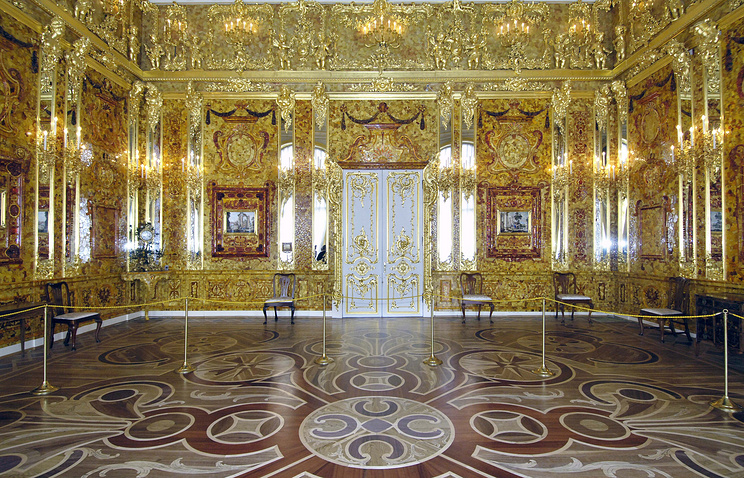 The Amber Room in the Catherine Palace