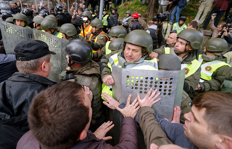 Eleven detained following clashes outside Verkhovna Rada