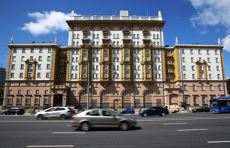 The US embassy in Moscow