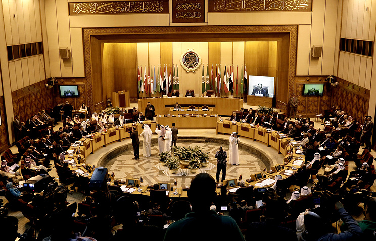 Arab Foreign Ministers meet at the Arab League headquarters in Cairo