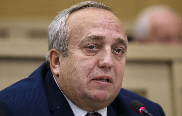 First Deputy Chairman of the Defense and Security Committee of Russia's Federation Council Frants Klintsevich