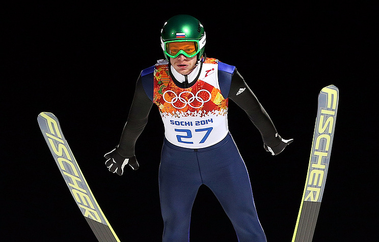 Russian ski jumper Denis Kornilov
