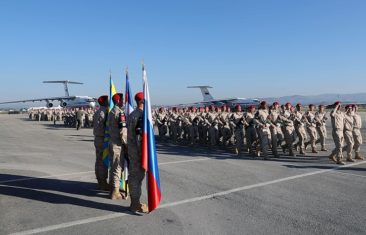 Russian military at the Hmeymim air base