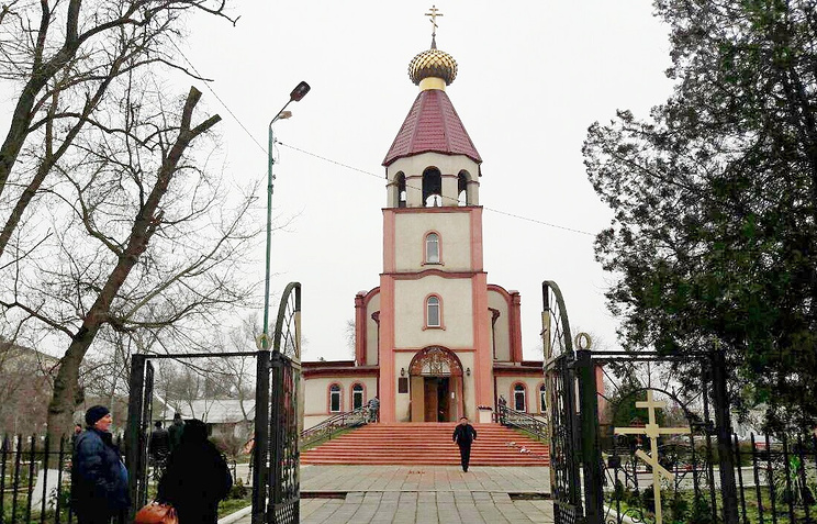 St George Cathedral in Kizlyar, where a local resident opened fire at people
