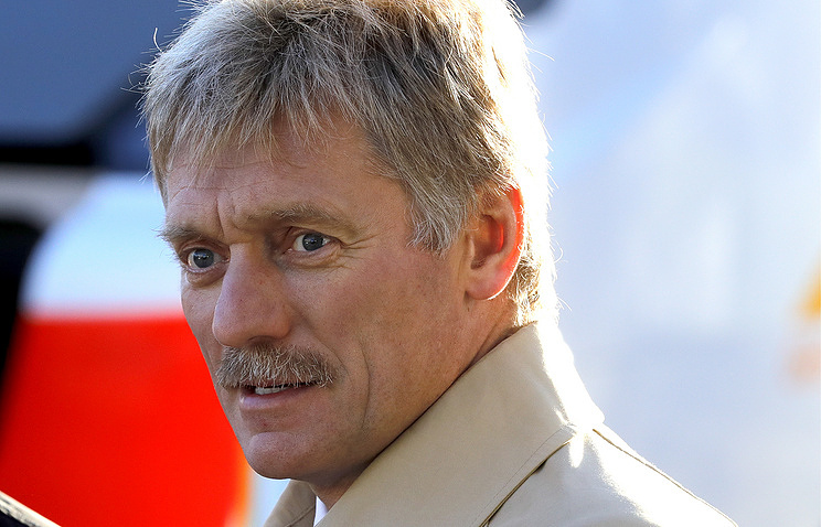 The Kremlin spokesman Dmitry Peskov