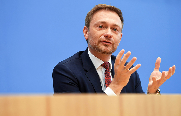 Leader of Germany's Free Democratic Party Christian Lindner