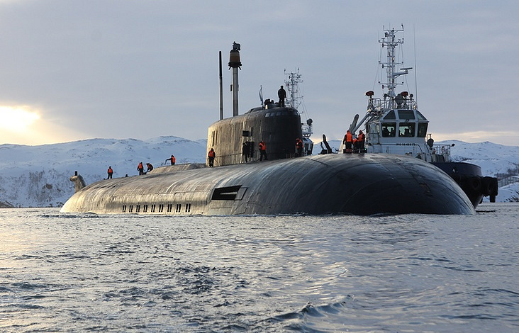 The Northern Fleet's Project 949A nuclear-powered attack submarine Orel