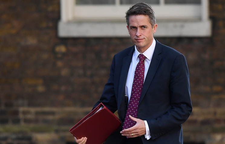 British Secretary of State for Defense Gavin Williamson