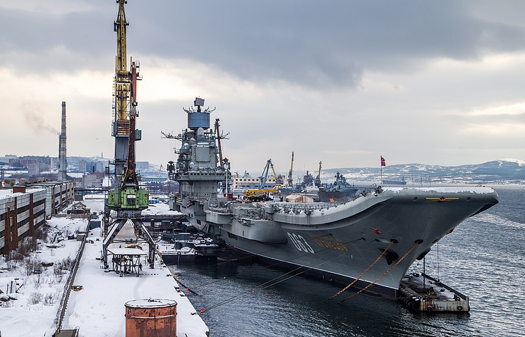 The Admiral Kuznetsov heavy aircraft-carrying cruiser