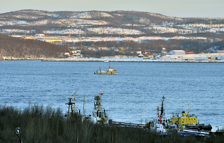 A view of the Kola Bay where the PD-50 floating dock sank