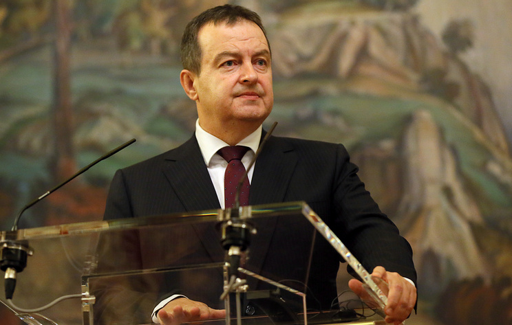 Serbia's Foreign Minister Ivica Dacic