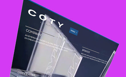 Screenshot   www.coty.com