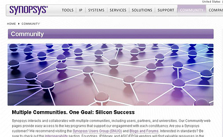 Screenshot www.synopsys.com