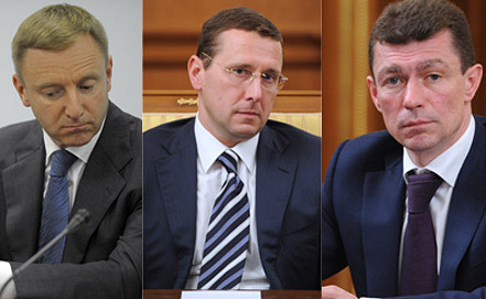 Dmitry Livanov, Oleg Govorun, Maxim Topilin. Photo ITAR-TASS
