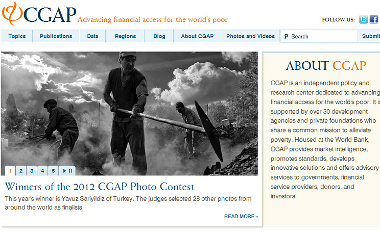 Screenshot www.cgap.org