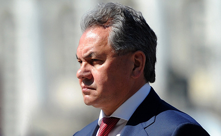 Russian Defense Minister Sergei Shoigu, Photo ITAR-TASS