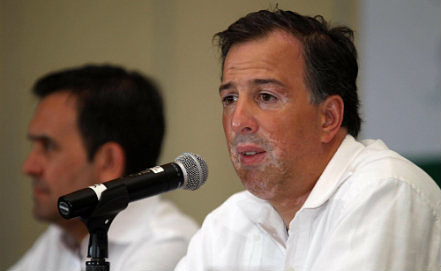 Mexican Secretary of Foreign Affairs Jose Antonio Meade Kuribrena, Photo EPA/ALONSO CUPUL