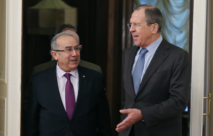 Algerian foreign minister Ramtane Lamamra and Russian foreign minister Sergei Lavrov