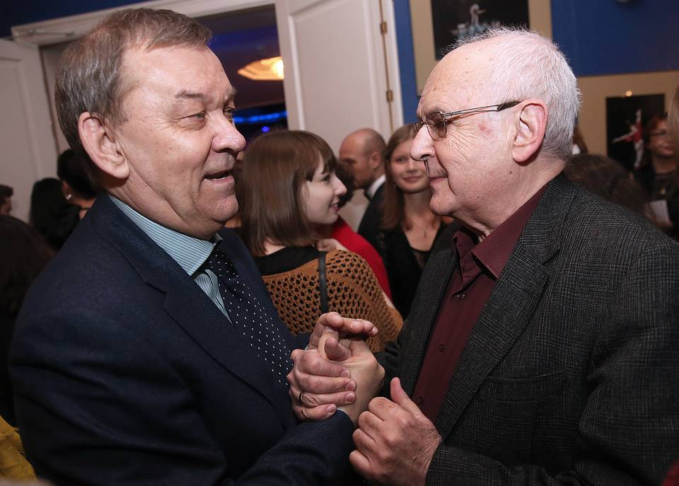 Bolshoi theater general director Vladimir Urin and Russian Academic Youth theater artistic director Alexei Borodin, 2016  Vyacheslav Prokofyev/TASS