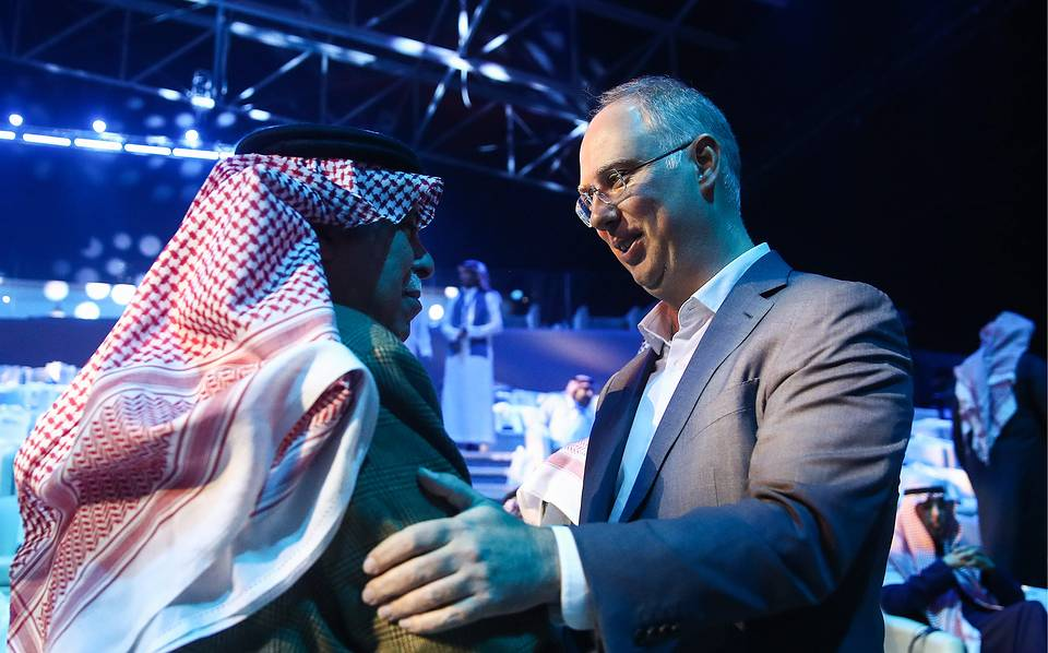 Saudi Arabia's Minister of Commerce and Investment, Majid bin Abdullah Al Qasabi and Director of the Russian Direct Investment Fund Kirill Dmitriyev  Valery Sharifulin/TASS