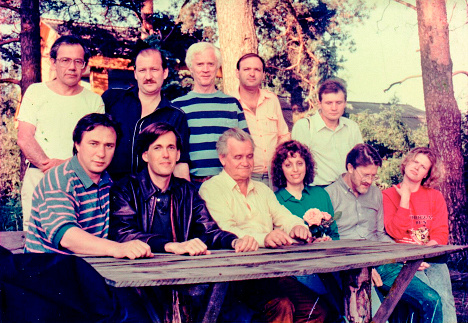 With Jeff Bayer, Gennady Guskov, John Gage and Bill Joy during Sun Microsystems and ELVIS picnic on the Volga river, 1992 Personal archive of Alexander Galitsky